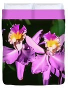 Orchids In Costa Rica Duvet Cover