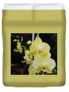 Orchids In New York Duvet Cover