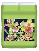 Orchids  Duvet Cover by Lucy Arnold