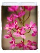 Orchids On Stem Duvet Cover