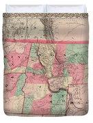 Oregon And Washington Territory Duvet Cover
