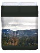 Oregon Cascade Range Landscape Duvet Cover