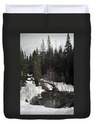 Oregon Cascade Range River Duvet Cover