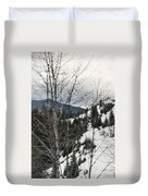 Oregon Cascade Range Trees Duvet Cover