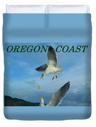 Oregon Coast Amazing Seagulls Duvet Cover