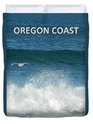 Oregon Coast Flying Seagull Duvet Cover