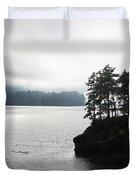 Oregon Coast Fog Duvet Cover