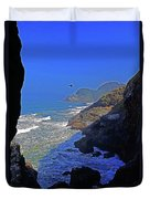 Oregon Coast From Sea Lion Caves Duvet Cover