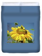 Oregon Gardens Silverton Sunflower Honeybee Baslee  Duvet Cover
