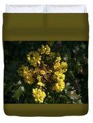 Oregon Grape Flowers Duvet Cover
