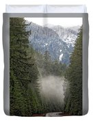 Oregon Highway Mist Duvet Cover