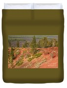 Oregon Landscape - Red Crater Duvet Cover