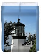 Oregon Lighthouses - Cape Meares Lighthouse Duvet Cover by Christine Till