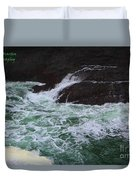 Oregon Ocean Pool Duvet Cover