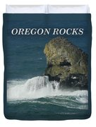 Oregon Rocks Duvet Cover