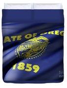 Oregon State Flag Duvet Cover
