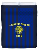 Oregon State Flag Graphic Usa Styling Duvet Cover