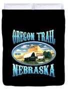 Oregon Trail Nebraska History Design Duvet Cover