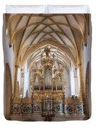 Organ Of The Gothic-baroque Church Of Maria Saal Duvet Cover