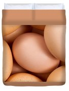 Organic Brown Eggs In Filled Frame Format Duvet Cover