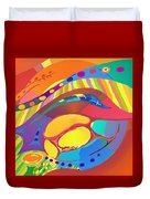 Organic Life Scan Or Cellular Light - Blood Duvet Cover