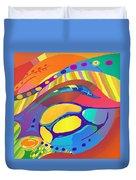 Organic Life Scan Or Cellular Light - Blue Duvet Cover