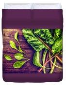 Organic Rainbow Chard Duvet Cover