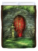 Orient - Door - The Moon Gate Duvet Cover