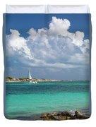 Orient Beach Catamaran Duvet Cover