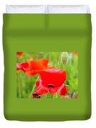 Oriental Poppy Flower Art Prints Poppies Red Baslee Troutman Duvet Cover