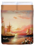 Oriental Sailor Chiefs Gathered For A Meeting On The Shores Of The Black Sea Duvet Cover