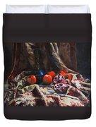 Oriental Still Life Duvet Cover