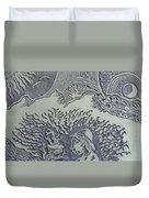Original Linoleum Block Print Duvet Cover
