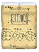 Original Patent For Canning Jars Duvet Cover