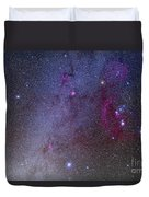 Orion And Canis Major Showing Dog Stars Duvet Cover