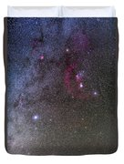 Orion And Canis Major With The Dog Star Duvet Cover