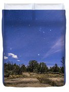 Orion And Sirius Rising Duvet Cover