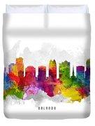 Orlando Florida Cityscape 13 Duvet Cover