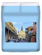 Orleans Street And St Louis Cathedral Duvet Cover