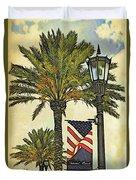 Ormond Beach Patriotic Duvet Cover