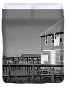 Ormond Yacht Club Black And White Duvet Cover