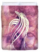 Ornamental Abstract Bird Minimalism Duvet Cover