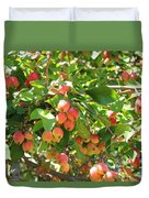 Ornamental Apples On A Tree Duvet Cover