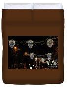 Ornamental Design Christmas Light Decoration In Madrid, Spain Duvet Cover