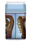 Ornamental Dragon Diptych Duvet Cover