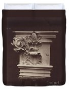 Ornamental Sculpture From The Paris Opera House (column Detail) Duvet Cover