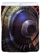 Ornamented Metal Spiral Staircase Duvet Cover