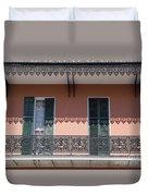 Ornate Balcony In New Orleans Duvet Cover
