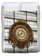 Ornate Orsay Clock Duvet Cover
