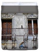 Ornate Weathered Artistic Architecture Duvet Cover